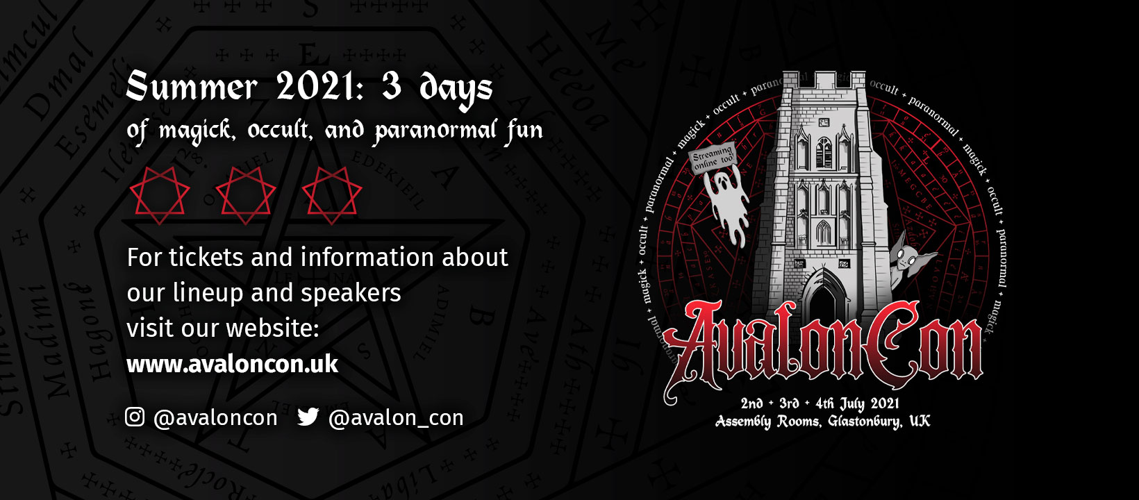 A banner I designed for AvalonCon's Facebook profile.